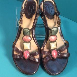 """Frye """"Brooke"""" jeweled wedge sandal"""